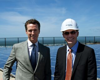 Mayor Newsom and Arno Harris - Sunset Reservoir Groundbreaking